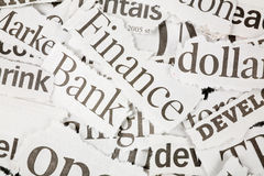 Newspaper Headlines Stock Image