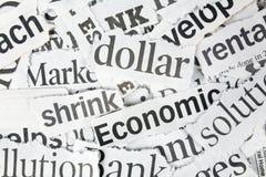 Newspaper Headlines Stock Photography