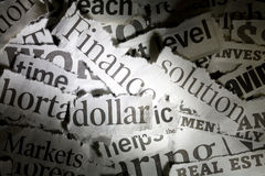 Newspaper Headlines Stock Images