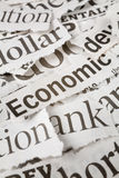 Newspaper Headlines Stock Image