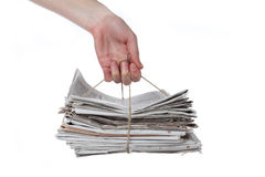 Newspaper heap Stock Image