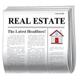 Newspaper -house Royalty Free Stock Photos
