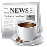 Newspaper icon Royalty Free Stock Photos