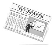 Newspaper icon. With photo. Vector illustration Royalty Free Stock Images