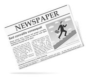 Newspaper icon Royalty Free Stock Images