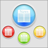 Newspaper Icon Royalty Free Stock Photography