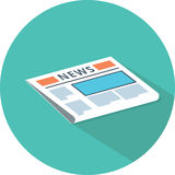 Newspaper icon. News publish media icon. Royalty Free Stock Images