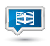 Newspaper icon prime blue banner button Royalty Free Stock Photo