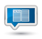 Newspaper icon prime blue banner button Royalty Free Stock Image