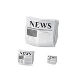 Newspaper icon. Vector Royalty Free Stock Image