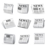 Newspaper icon. Vector Royalty Free Stock Photo