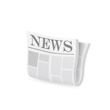 Newspaper icon. Vector Stock Image