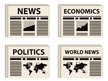 Newspaper icons Stock Image