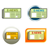 Newspaper Icons Royalty Free Stock Images