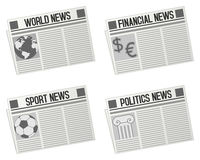 Newspaper Icons Collection Royalty Free Stock Photography