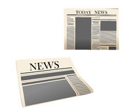 Newspaper icons with detailed Royalty Free Stock Image