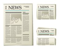 Newspaper icons. 4 newspaper icons over white background Royalty Free Stock Photo