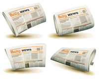 Newspaper Icons Set Royalty Free Stock Image