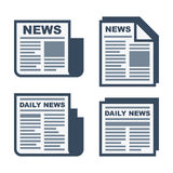 Newspaper Icons Set on White Background. Vector Stock Photography