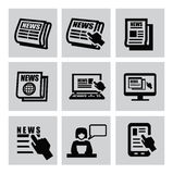 Newspaper icons Stock Photo