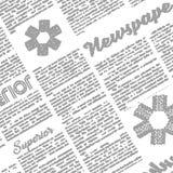 Newspaper illustration. Background pattern. Imitation of newspaper. vector illustration