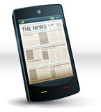 Newspaper Inside Pocket Mobile Phone Stock Photo