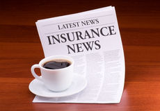 The newspaper INSURANCE NEWS Stock Photos