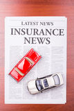 The newspaper  INSURANCE NEWS and auto Stock Image