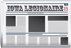 Newspaper Iowa Legionaire Royalty Free Stock Photography