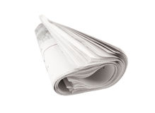Newspaper isolated Royalty Free Stock Photography