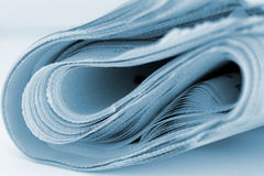 Newspaper Isolated. Closeup of a newspaper Royalty Free Stock Images