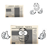 Daily newspaper isolated cartoon character Royalty Free Stock Photography