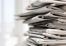 Newspaper Stock Image
