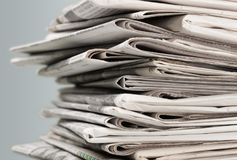 Newspaper. Journalist backgrounds articles white reading magazine stock images