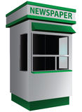 Newspaper kiosk. City kiosk selling newspapers and magazines. Vector illustration Royalty Free Stock Photos