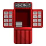 Newspaper kiosk icon, cartoon style royalty free illustration