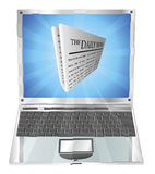 Newspaper laptop concept Royalty Free Stock Images