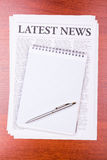 The newspaper LATEST NEWS Stock Photo