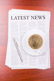 The newspaper  Latest News Royalty Free Stock Photos