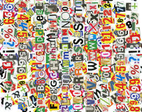 Newspaper letter background stock images