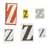 Newspaper Letters Stock Photos
