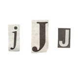 Newspaper Letters Stock Photography