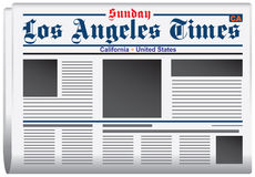 Newspaper Los Angeles Times Stock Photos