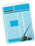 Newspaper, magazine,. Newspaper, magazine  isolated on white background Stock Photo