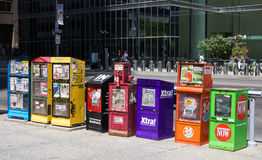 Newspaper and Magazine Dispensers Toronto Stock Images