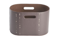 Newspaper and magazine leather basket Stock Photography