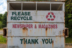 Newspaper and Magazine Recycle Dumpster Stock Image