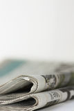 Newspaper The Media. Newspaper  The Media isolated on a white background Royalty Free Stock Images