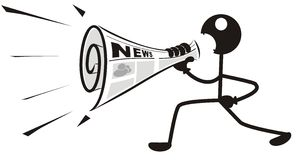 Newspaper Megaphone Royalty Free Stock Photos