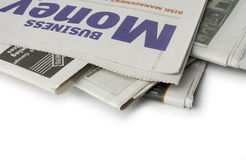 Newspaper - The money pages Royalty Free Stock Image